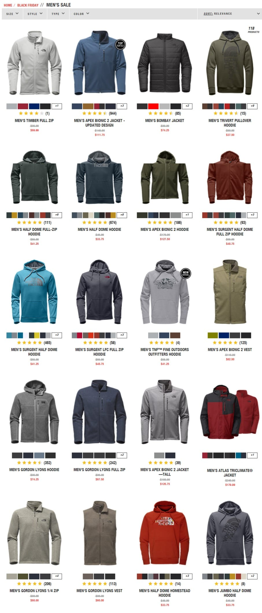 ab6ebbd48 The North Face Black Friday Deals 2017