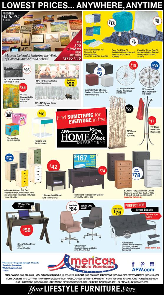 American Furniture Warehouse Black Friday Ad 2017