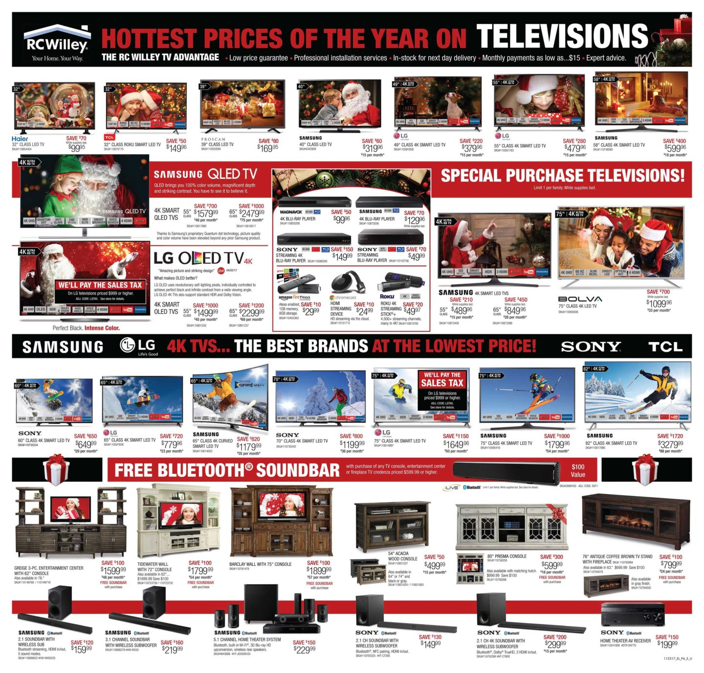 Rc Willey Tv Deals: RC Willey Black Friday Ad 2017