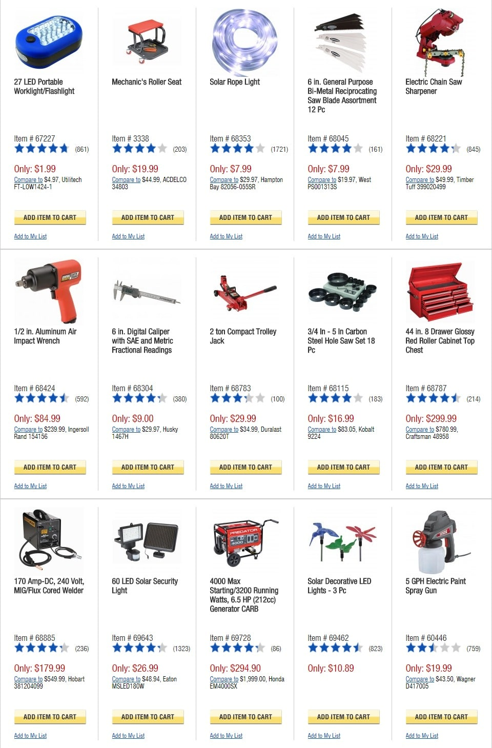 Harbor Freight Tools Cyber Monday 2017 Ad