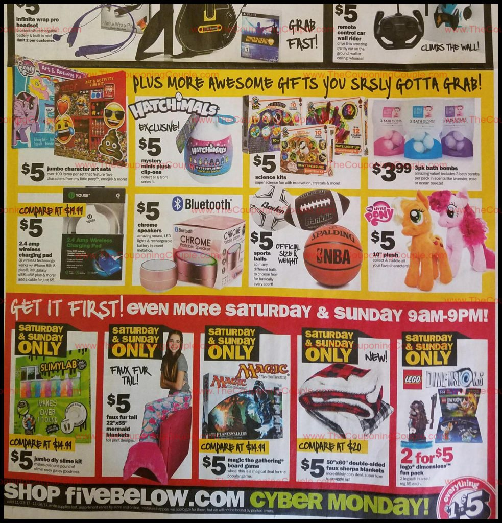 Find Even Better Deals On Sa Ay And Sunday When You Can Shop 9 A M To 9 P M Five Below Black Friday 2017