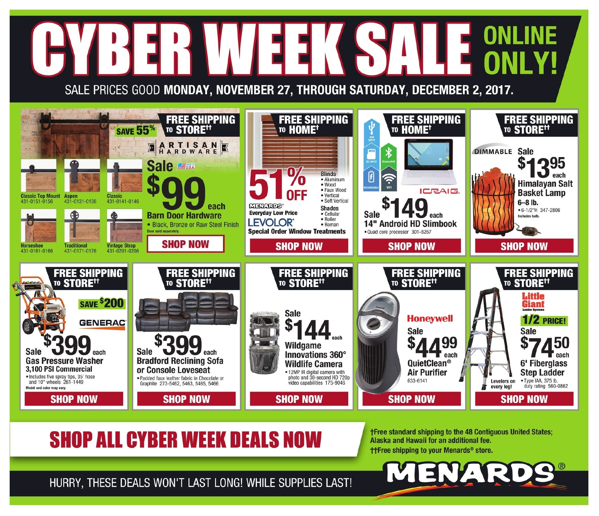 Menards: Get 11% Mail- in-rebate Sitewide. Mail-in Rebate is in the form of merchandise credit check, valid in-store only. Mail-in Rebate is in the form of merchandise credit check, valid in-store only.