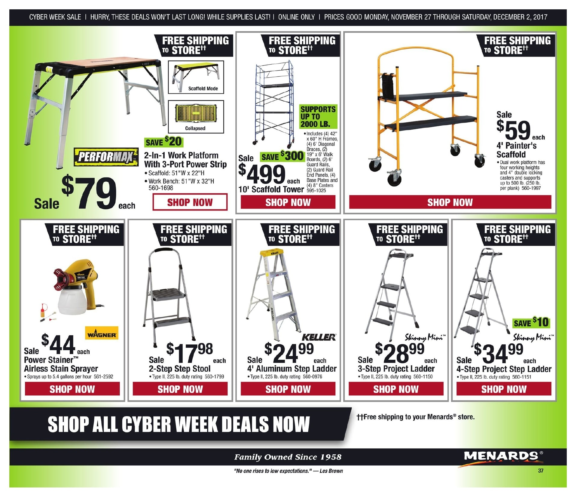 Menards Cyber Monday 2017 Ad