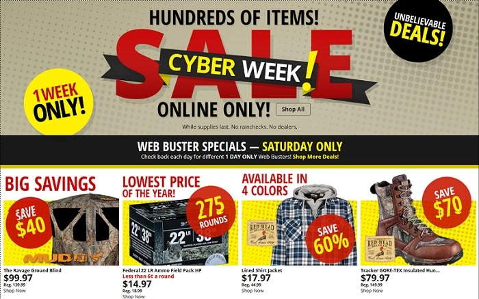 Bass Pro Shops Cyber Monday 2017 Ad