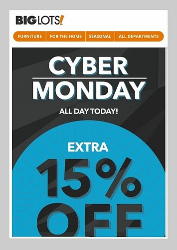 Cyber monday deals 2018 big lots