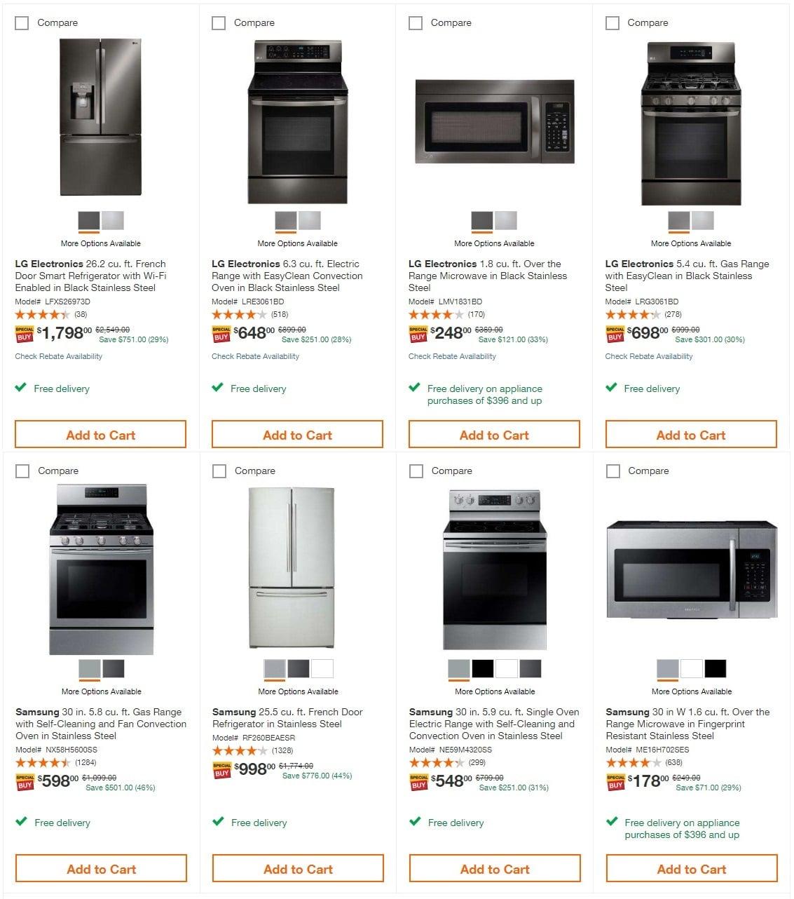 Home Depot Black Friday Appliance Savings Ad 2018