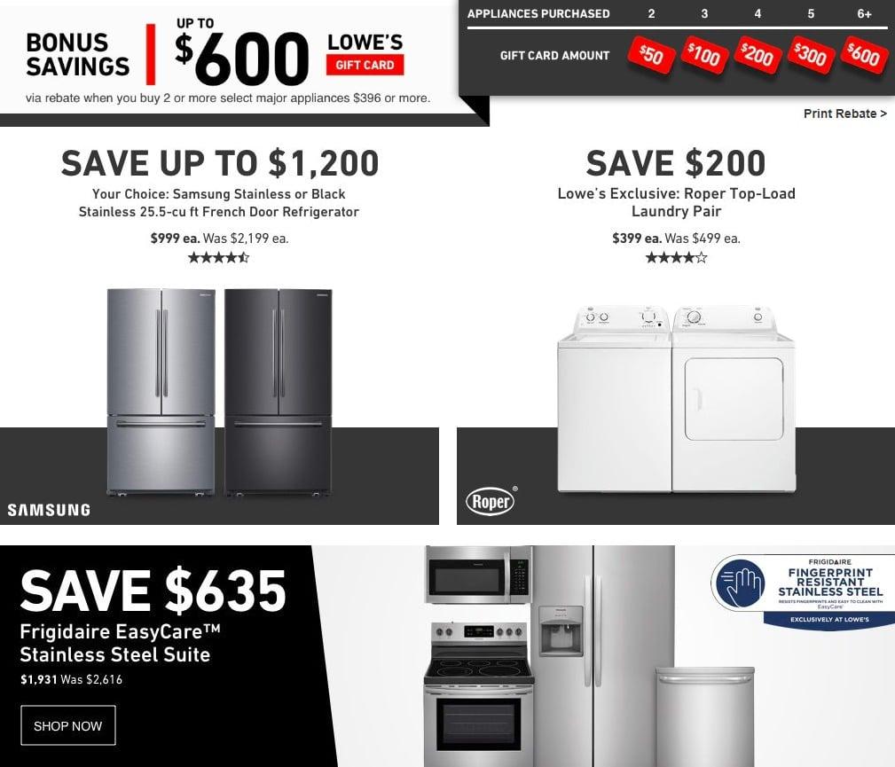 Lowe S Black Friday Appliance Deals 2018