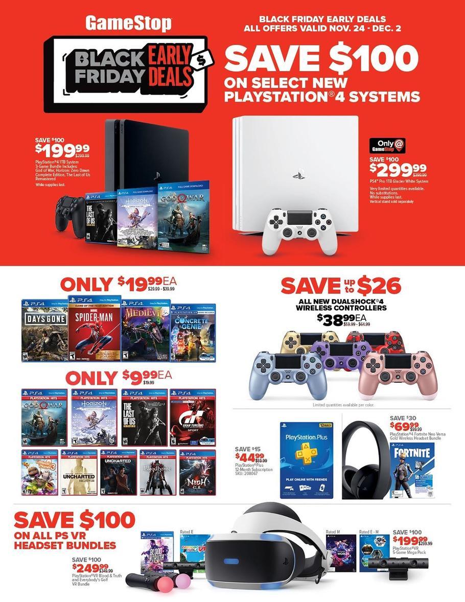 GameStop Early Black Friday Ad 2019