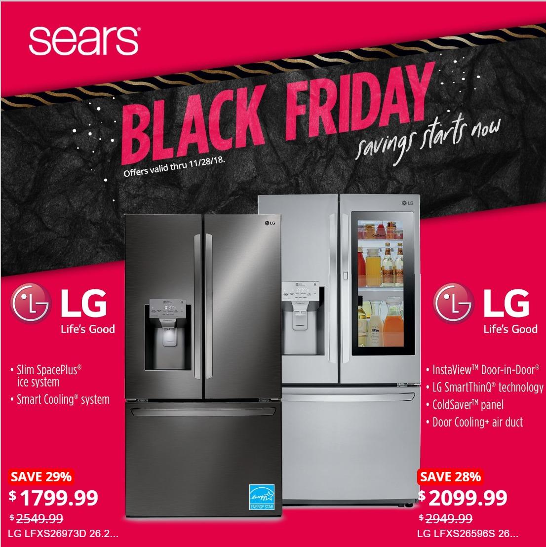 sears black friday home appliances ad sale. Black Bedroom Furniture Sets. Home Design Ideas