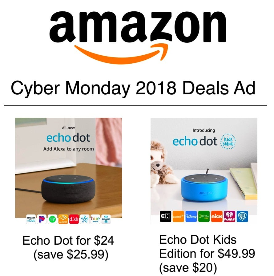 Amazon Cyber Monday 2018 deals