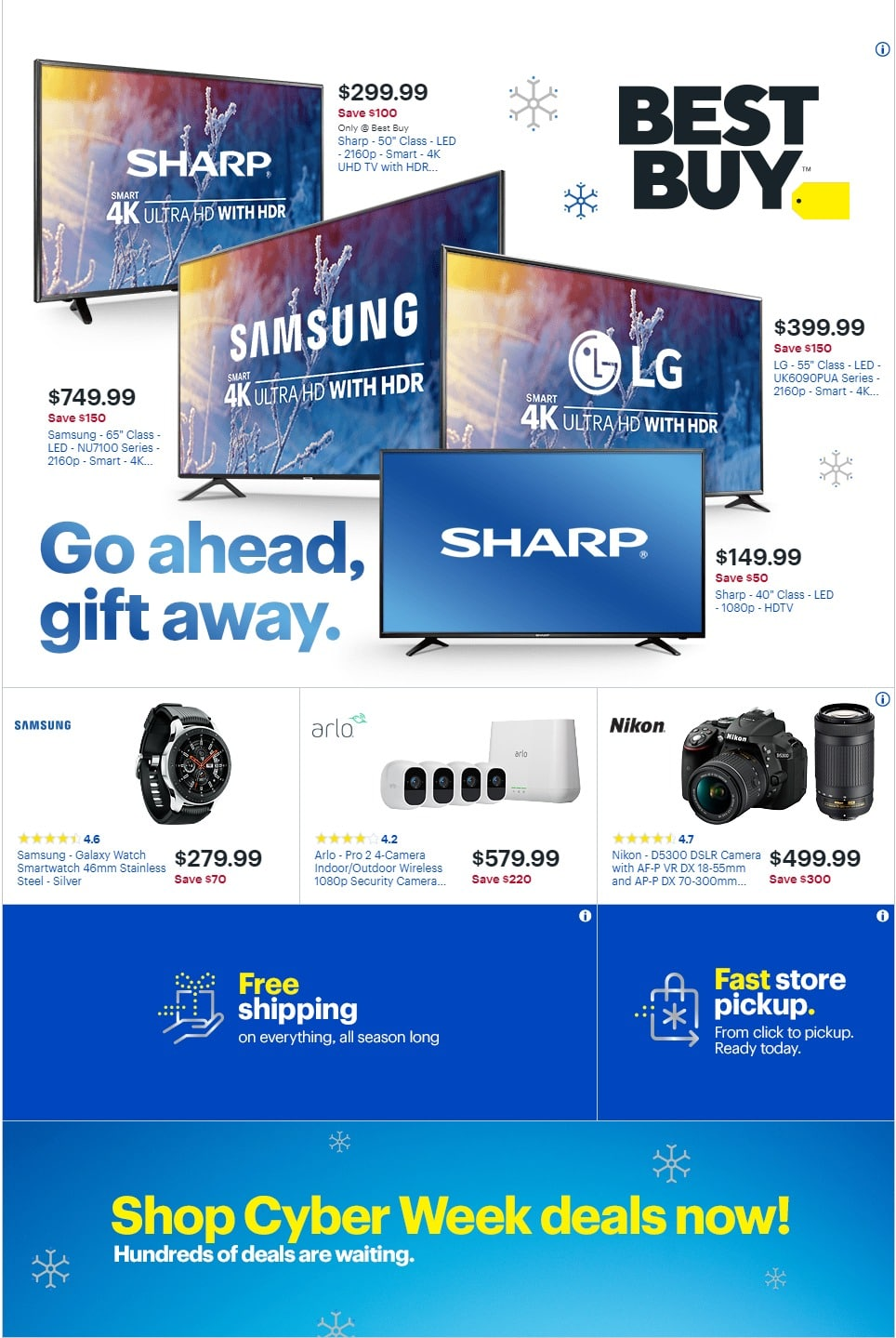 Best Buy Cyber Monday 2018 Ad