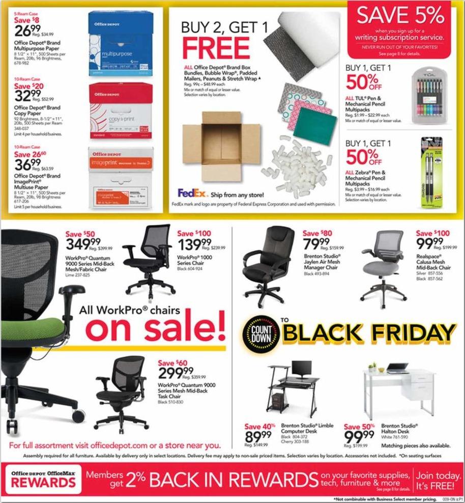 Office Depot/Office Max Pre-Black Friday Deals 2018
