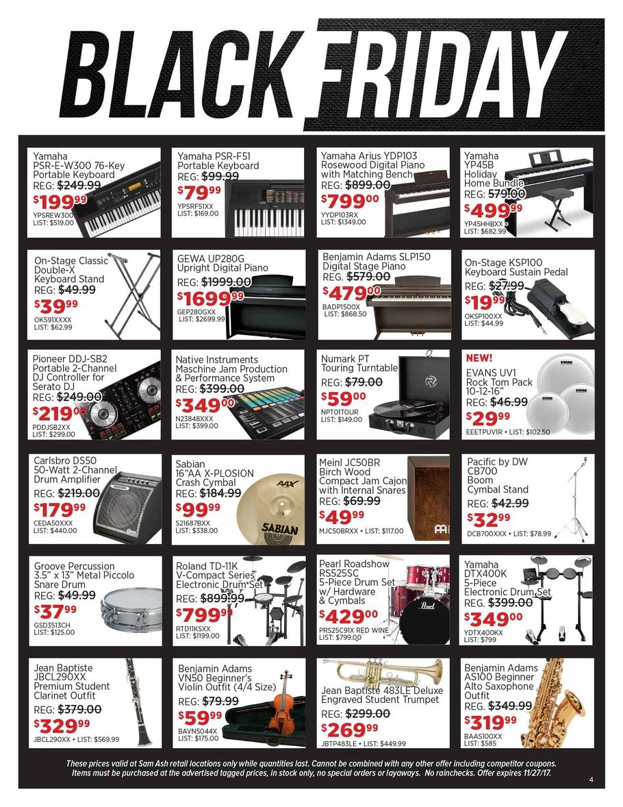sam ash black friday deals