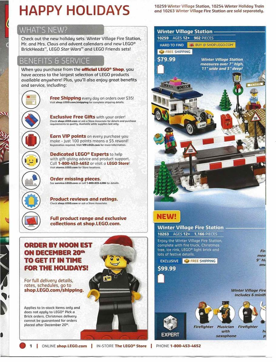 Lego Christmas Catalog 2018