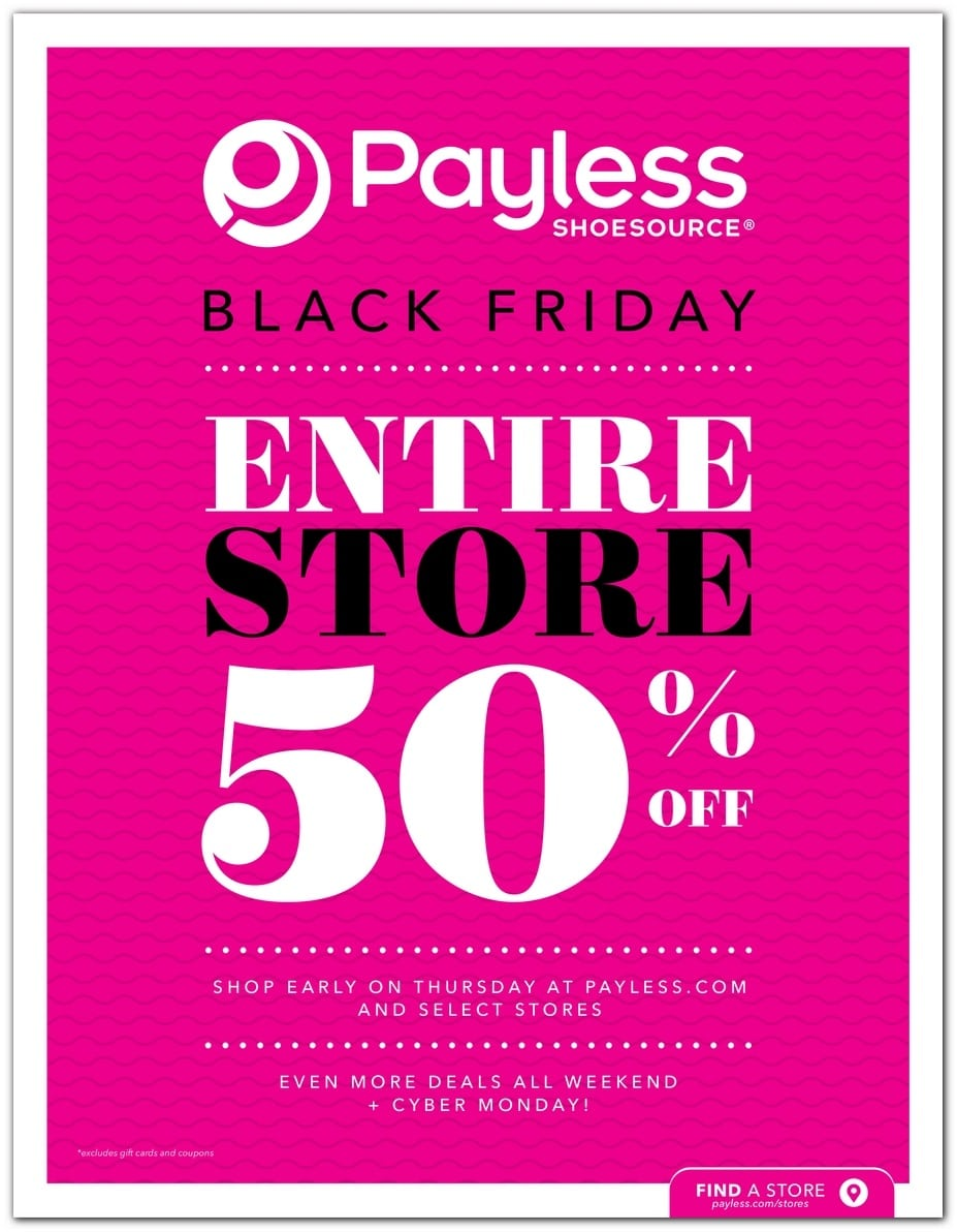 09500e83a Payless Black Friday 2018 Ad