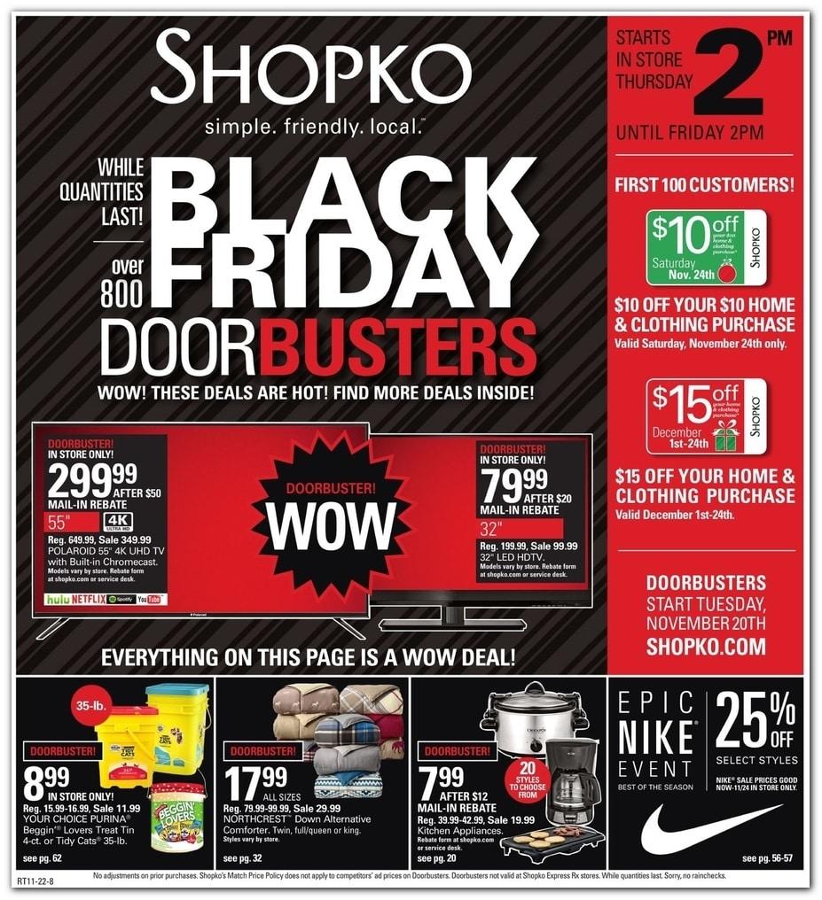 Shopko Black Friday Ad 2018