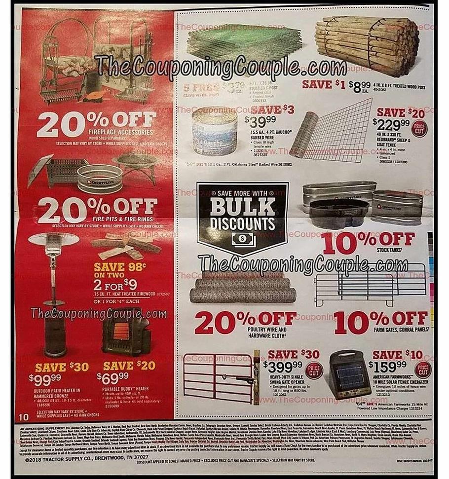 Tractor Supply Black Friday 2018 Ad