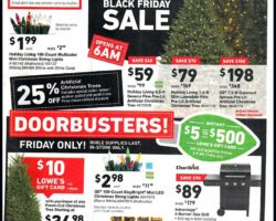 Lowe's Black Friday Ad 2018
