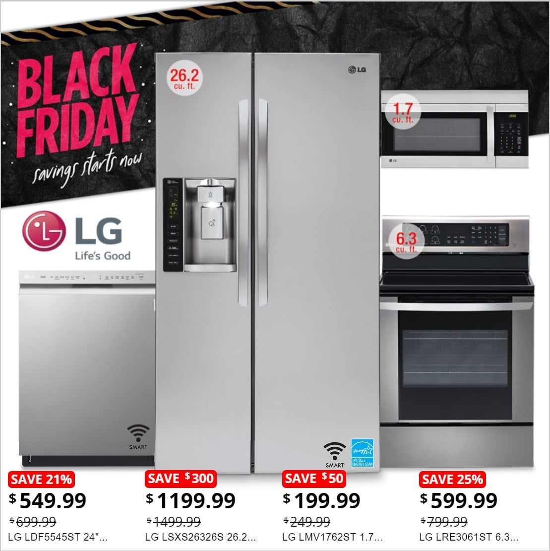 Sears Black Friday Home Appliances Ad Sale