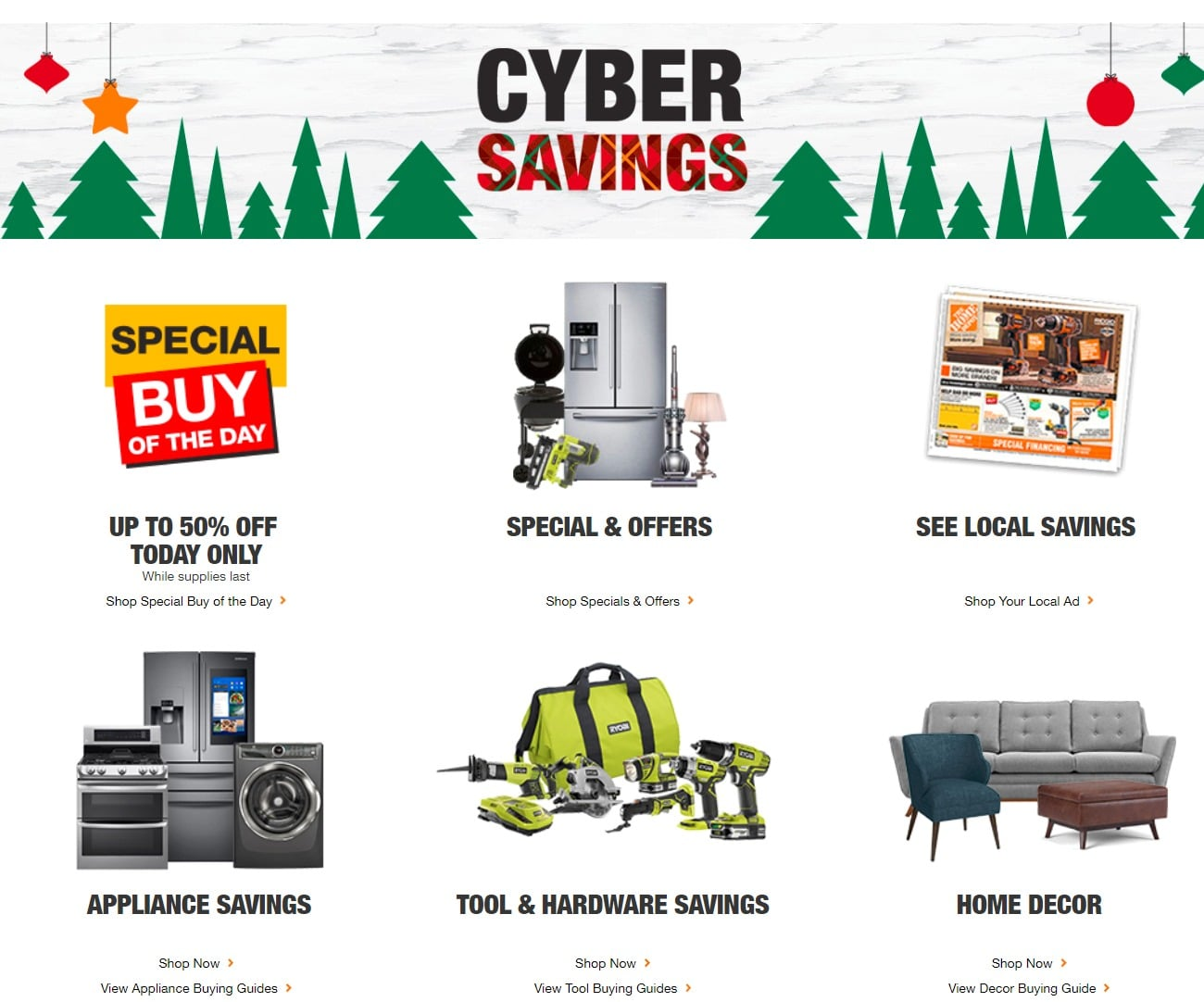ace2a94fee2 Home Depot Cyber Monday Ad 2018