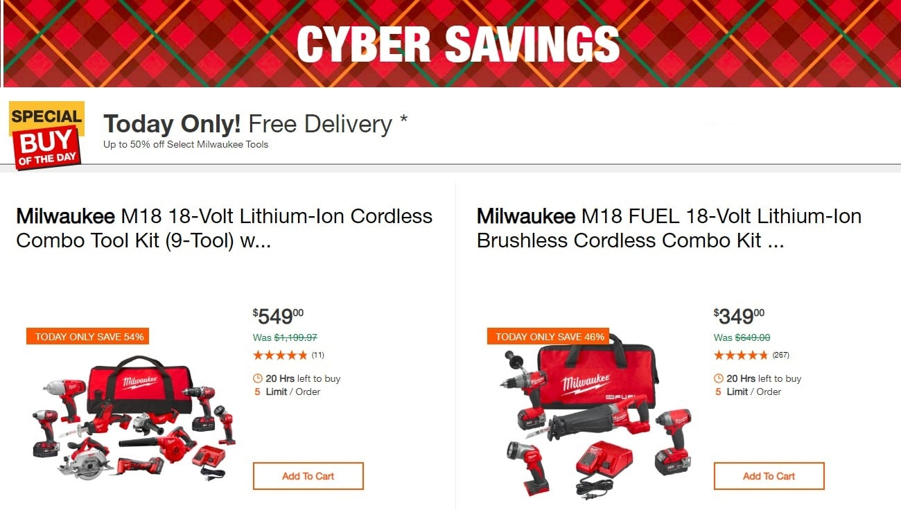 Home Depot Cyber Monday Ad