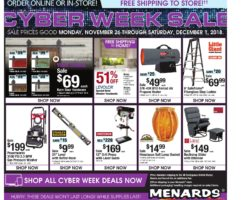 Menards Black Friday 2019
