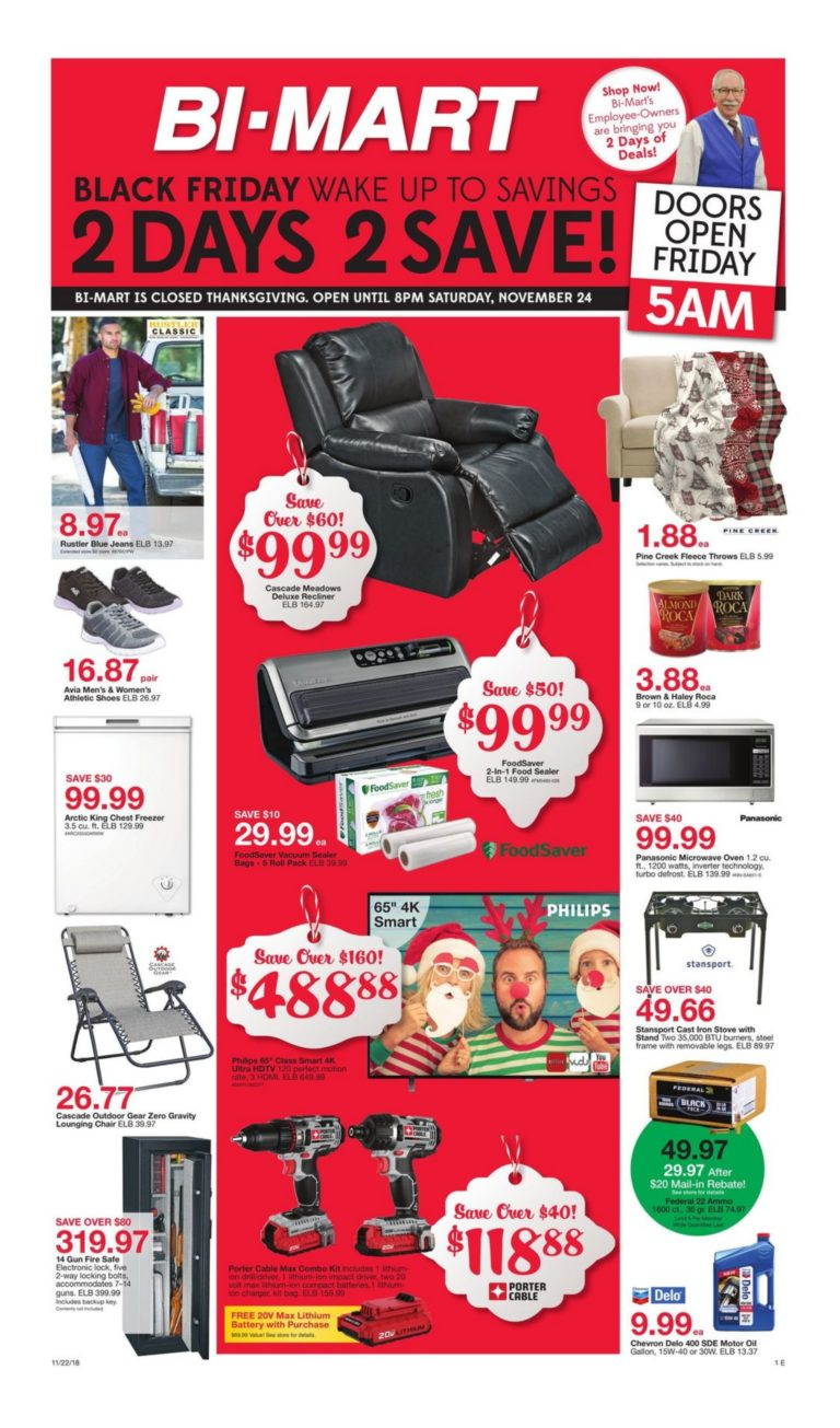 Bi Mart Black Friday Ad 2018