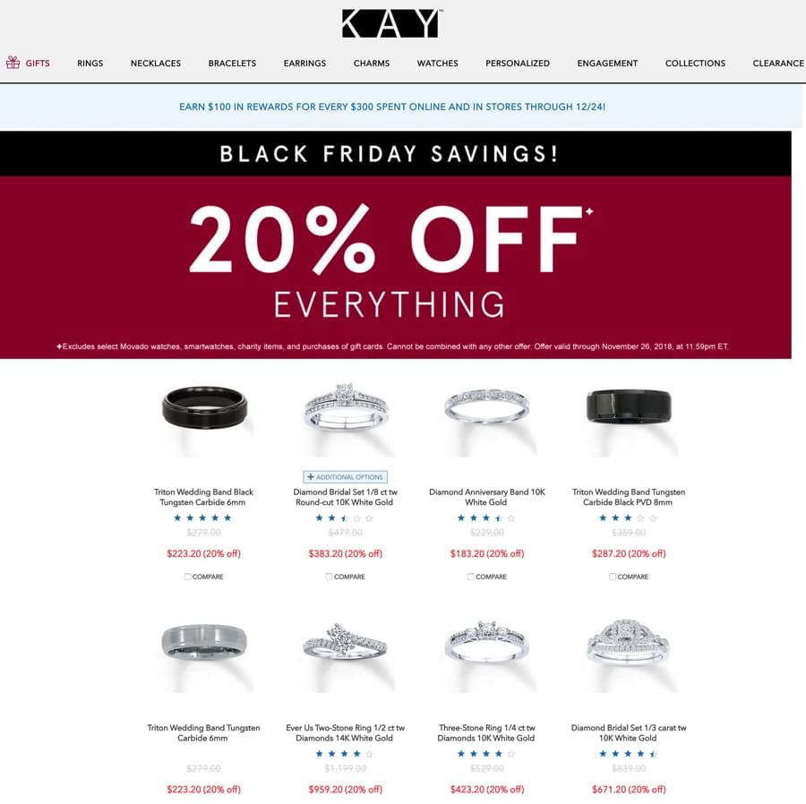 Kay Jewelers Cyber Monday Ad 2018