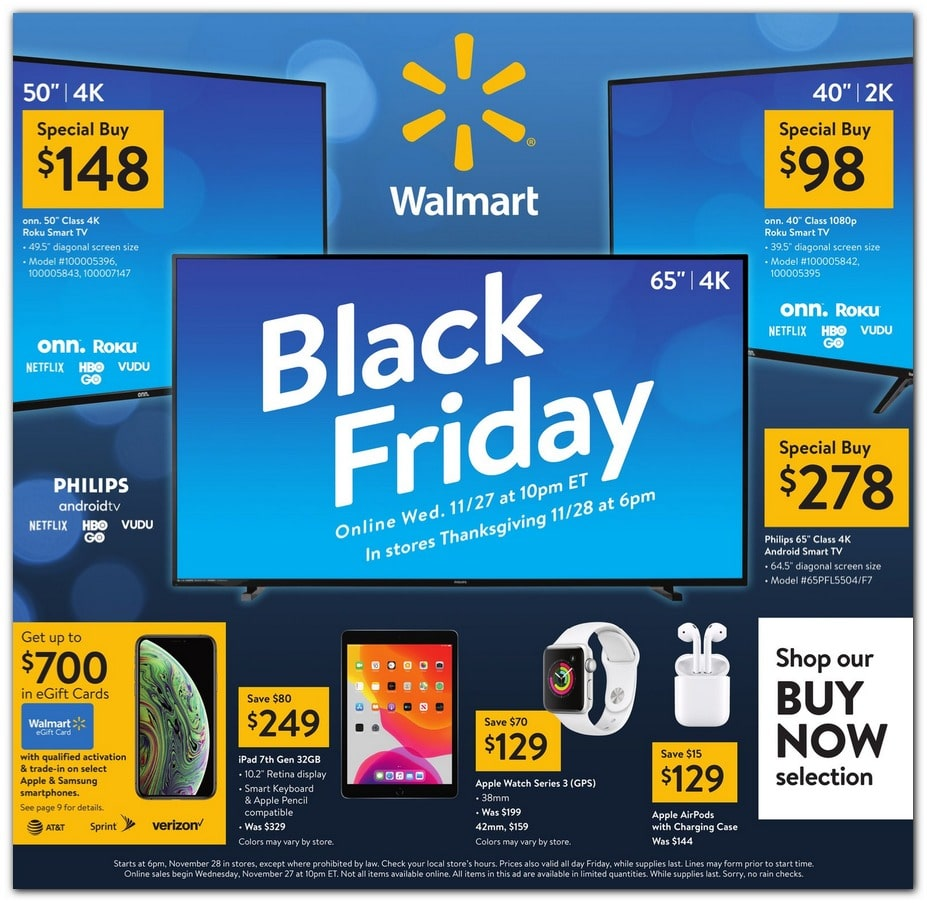 Walmart Black Friday Ad 2019