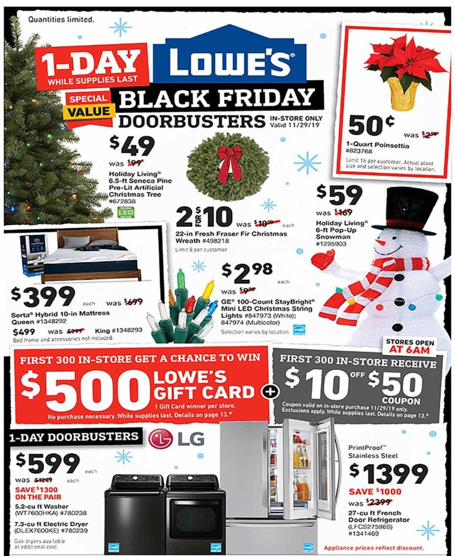Lowe's Black Friday Ad 2019