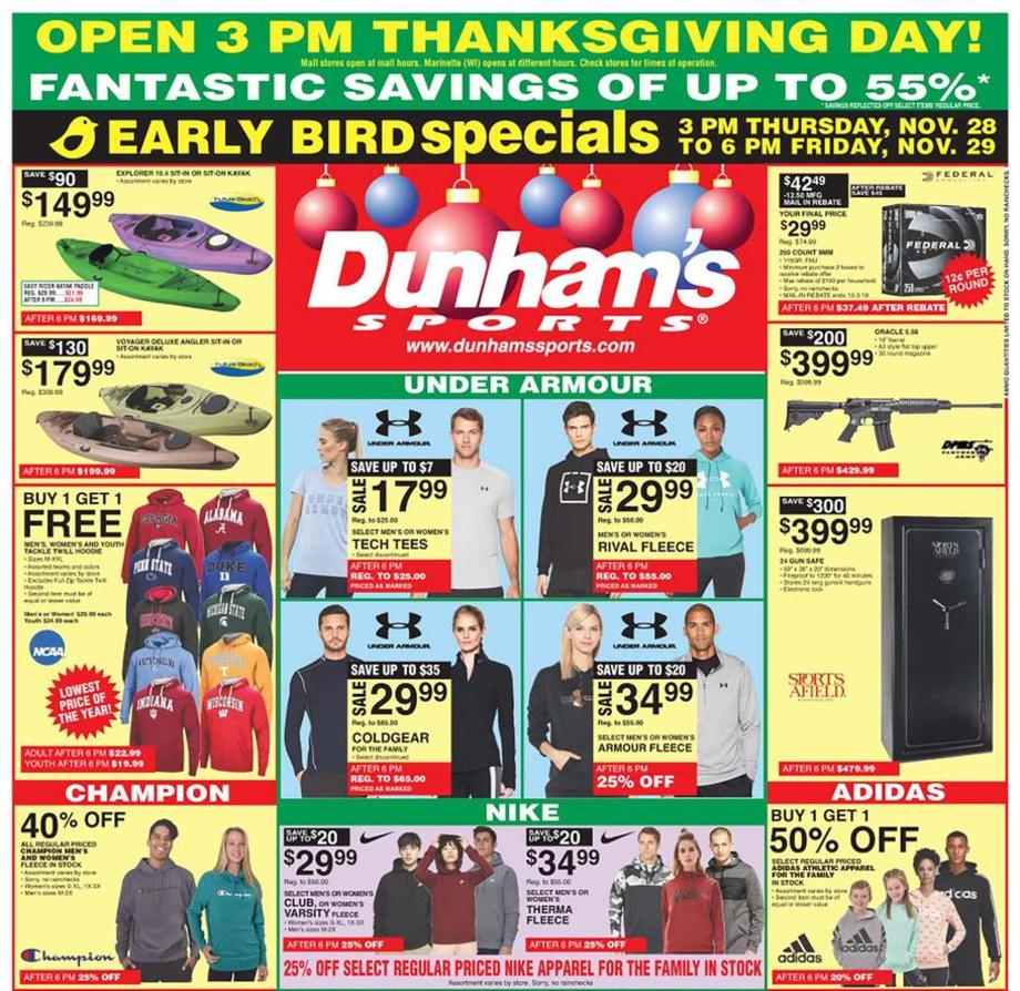 Dunham's Black Friday Ad 2019