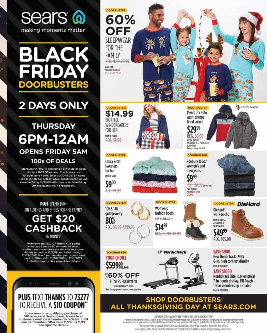 Sears Black Friday Ad Sale 2019