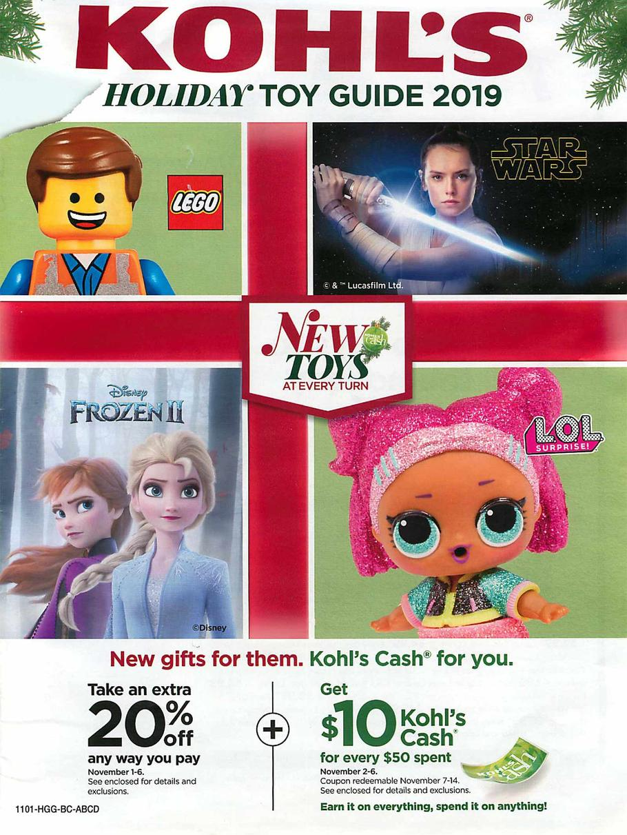 Kohls Holiday Toy Guide 2019