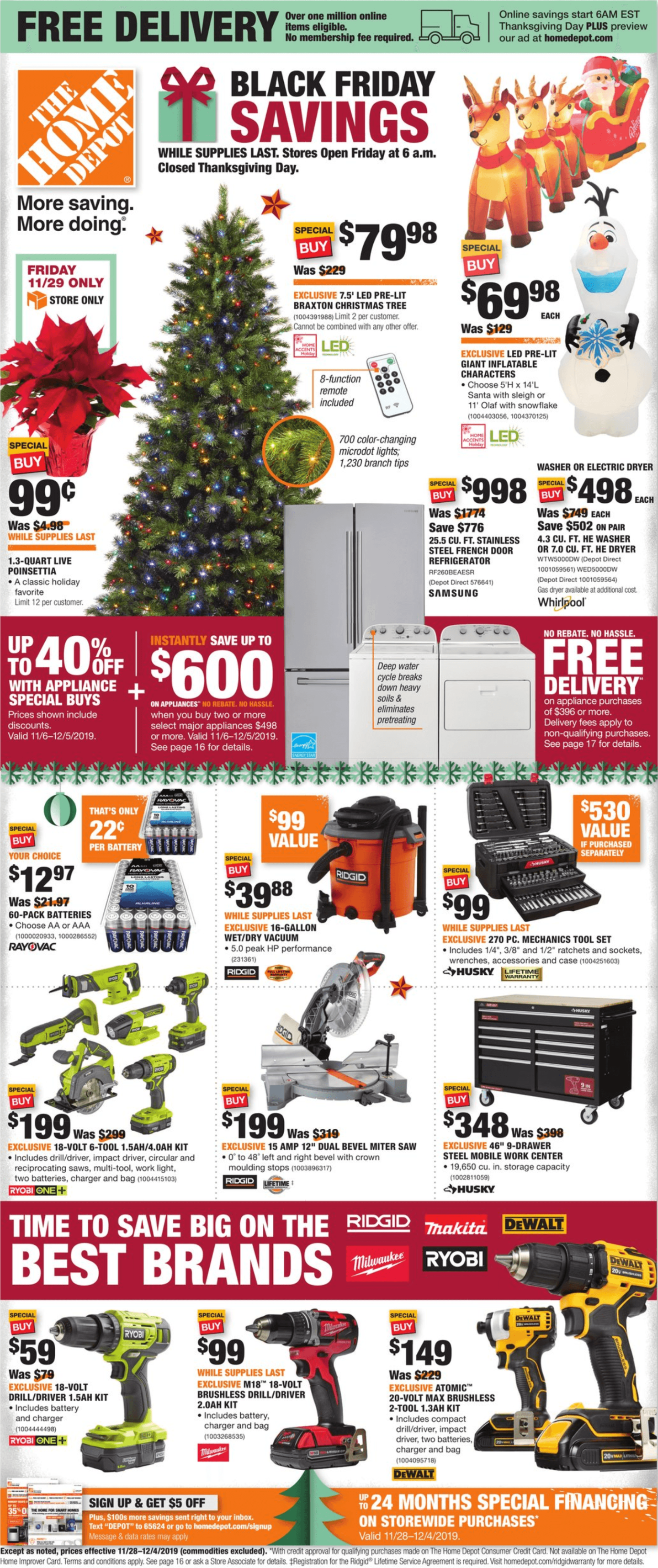 Home Depot Black Friday Deals 2019