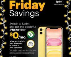 Sprint Black Friday Sales Ad 2019