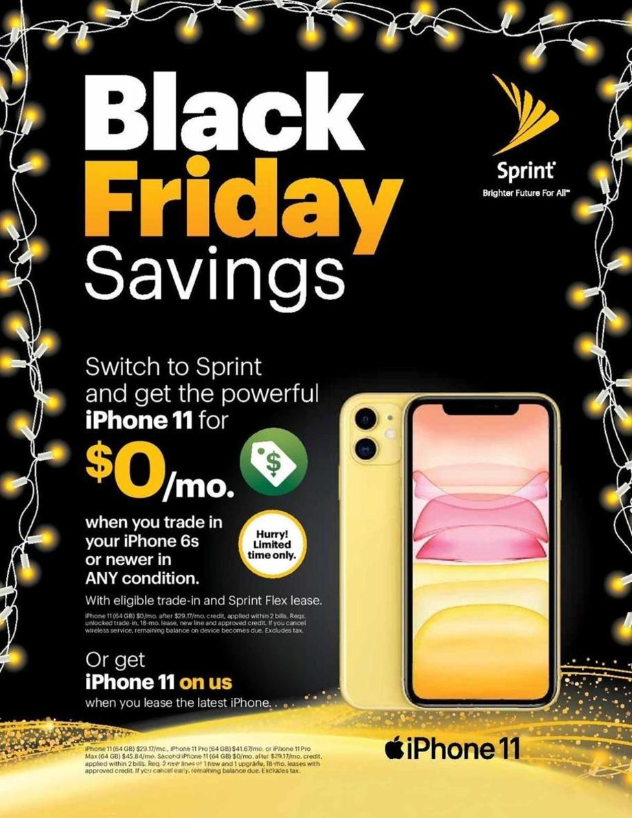 Sprint Black Friday Sales Ad 2019