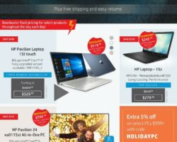 HP Cyber Monday Sales Ad 2019