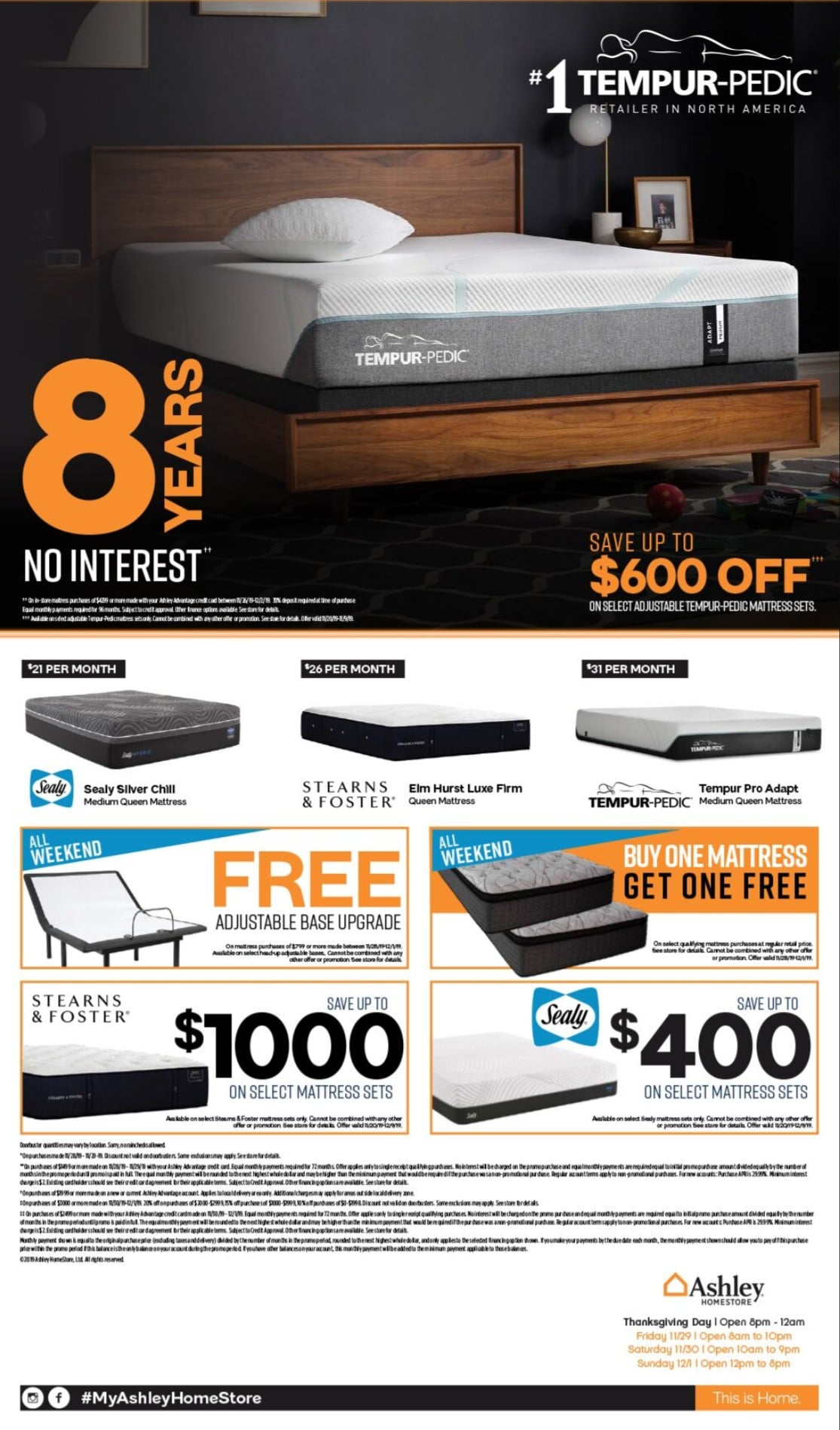 Ashley Furniture Black Friday Sales Ad 2019