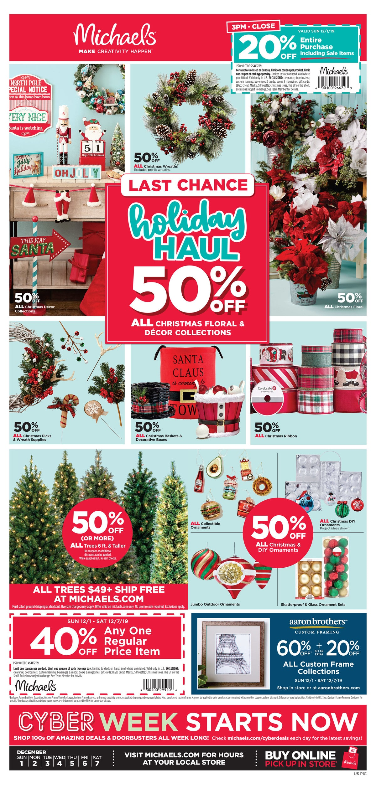 Michaels Cyber Monday Sales Ad