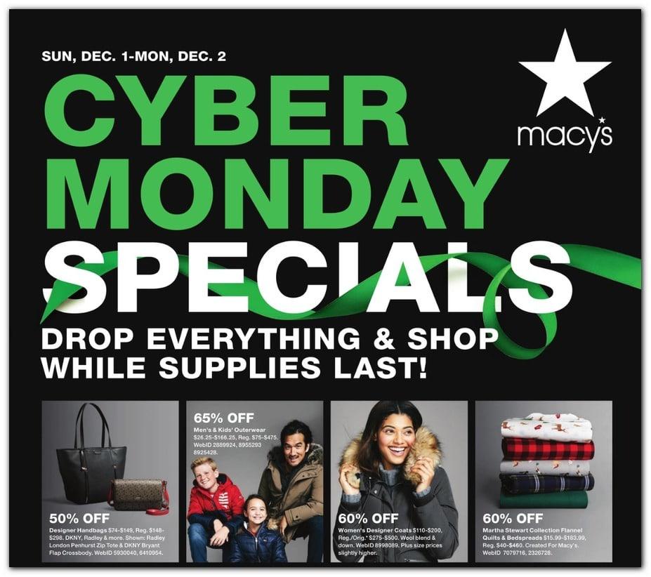 Macy's Cyber Monday Ad 2019