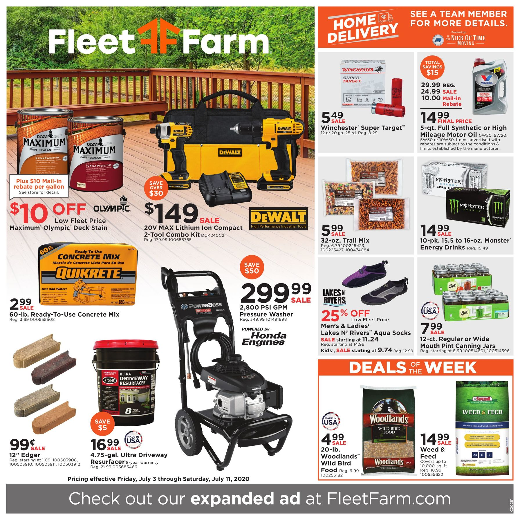 Fleet Farm Weekly Ad July 3 - July 11, 2020. Home Delivery!