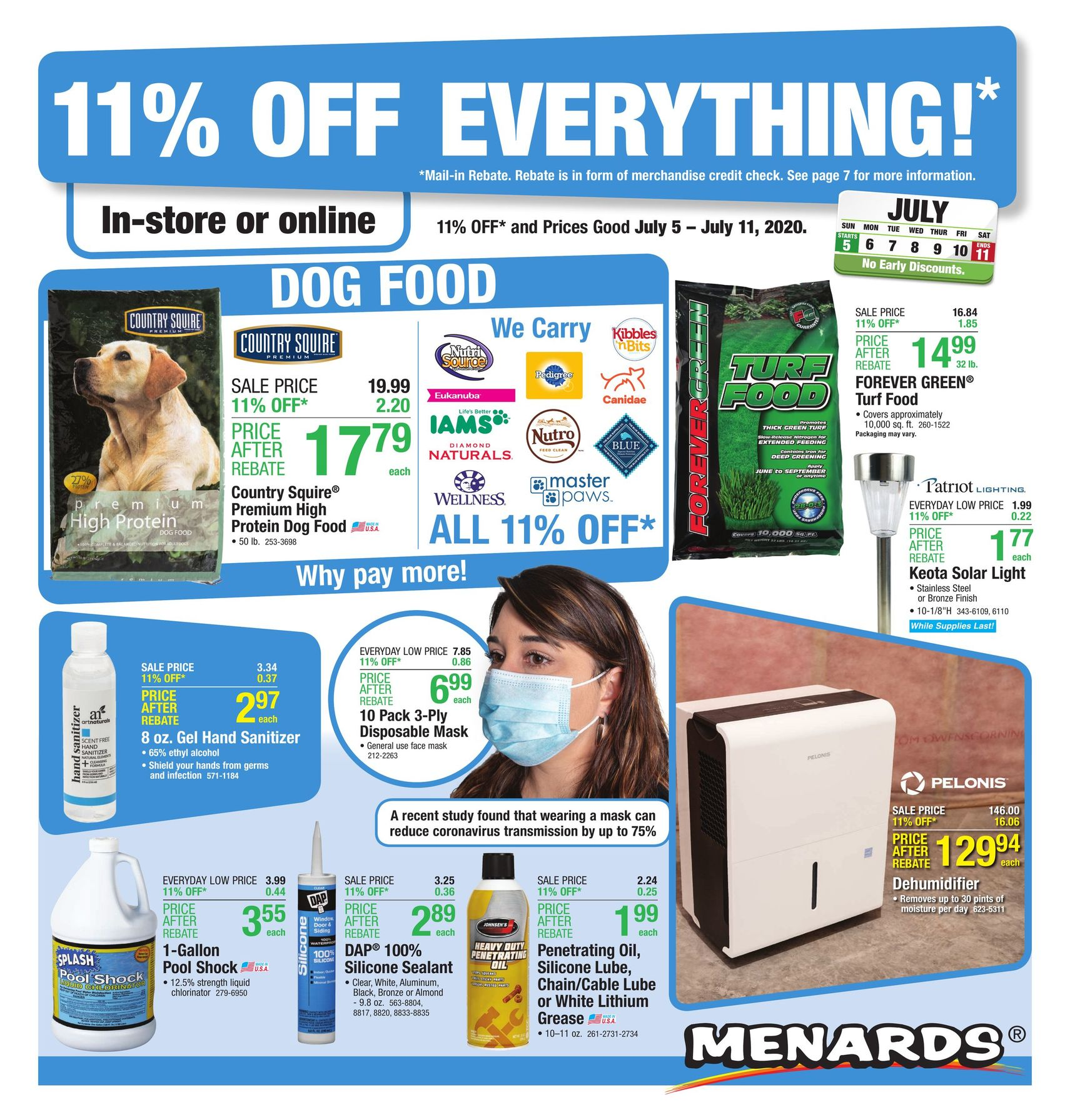 Menards Weekly Ad July 5 - July 11, 2020 11% Off Everything