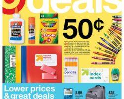 Target Weekly Ad July 12 - July 18, 2020. School Supplies on Sale!