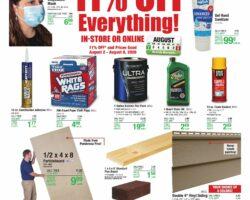 Menards Weekly Ad July August 2 - August 8, 2020. 11% Rebate Sale