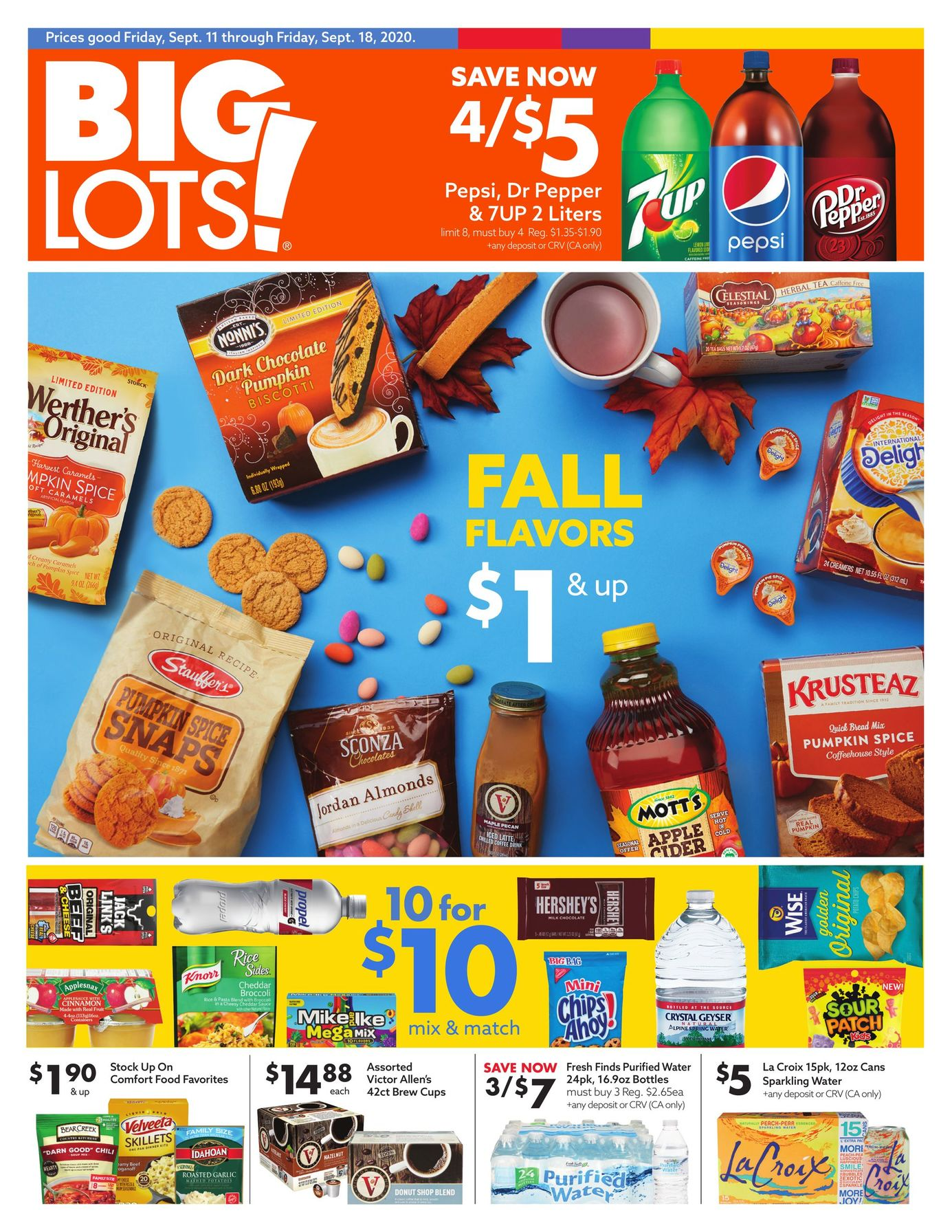 Big Lots Weekly Ad September 11 - September 18, 2020. Fall Flavors!