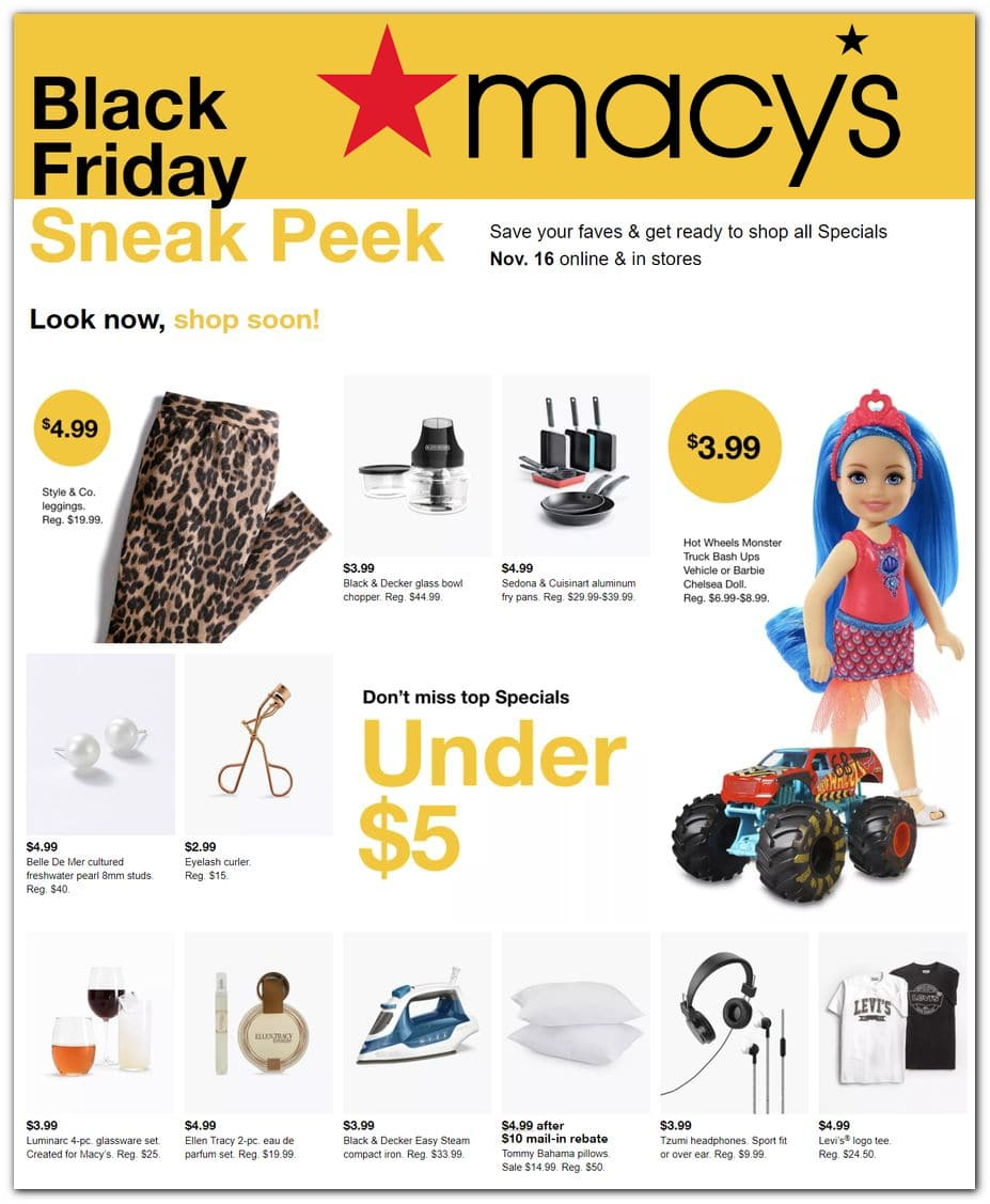 Macy's Black Friday Preview Ad 2020