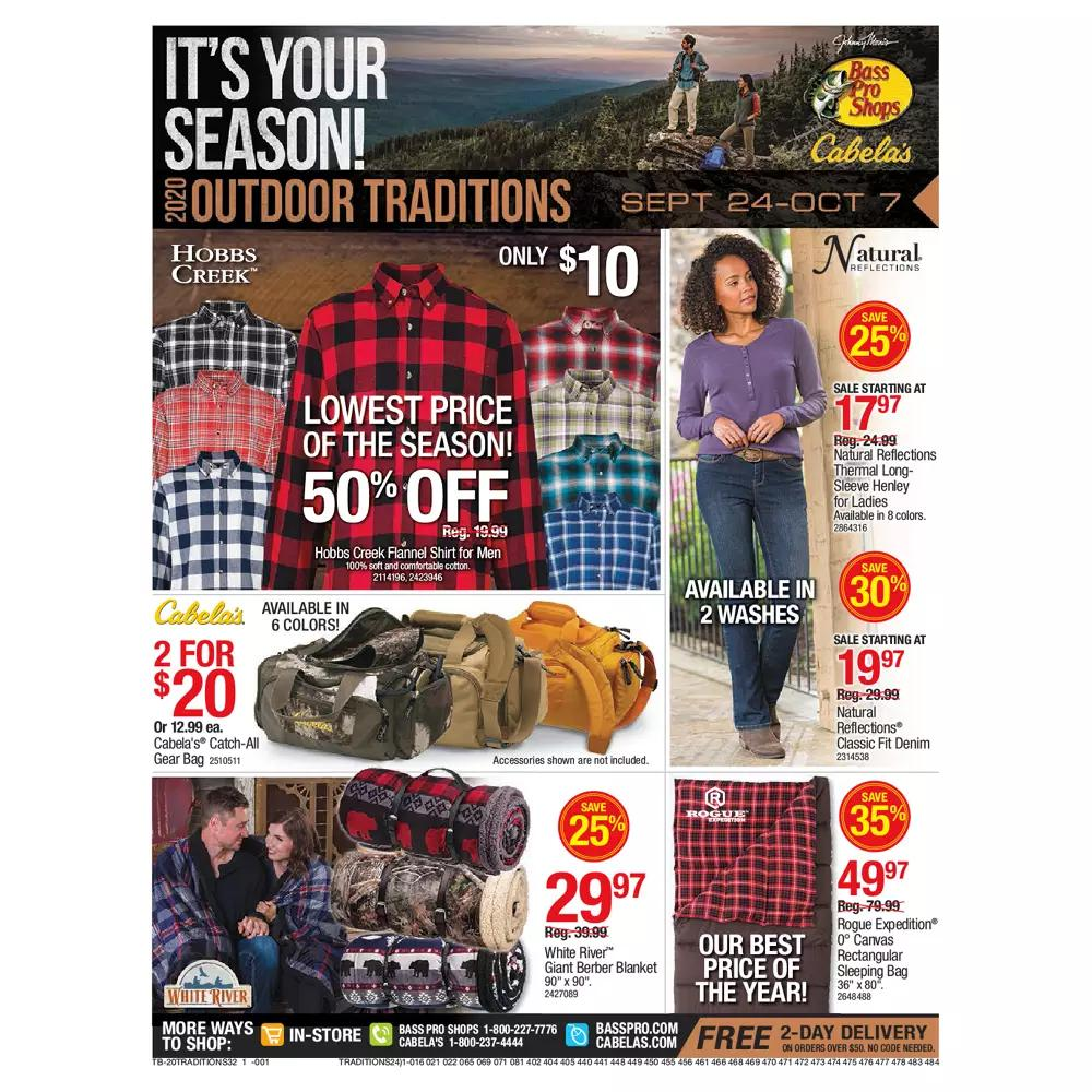 Bass Pro Shops Weekly Ad September 24 - October 7, 2020. Hot Buys!