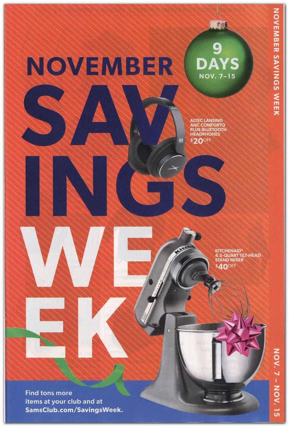 Sam's Club November Savings 2020