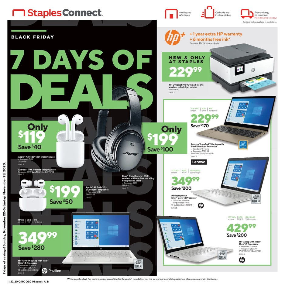 Staples Black Friday Sale Ad 2020