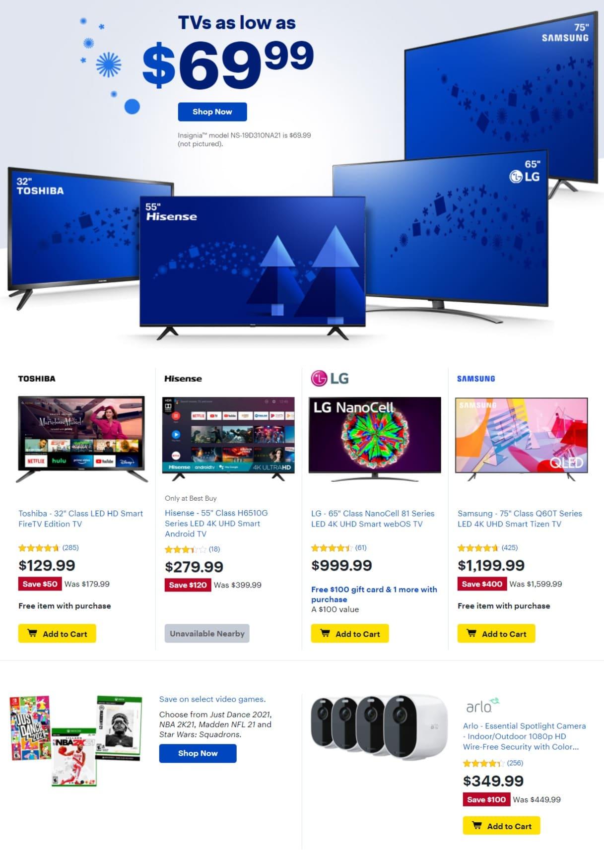 Best Buy Weekly Ad December 1 - December 6, 2020